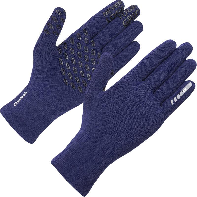 GripGrab Waterproof Knitted Thermal Glove Navy Blå